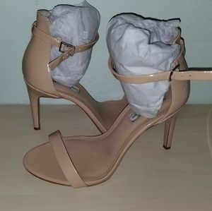 INC Tan Ankle Strap Stiletto